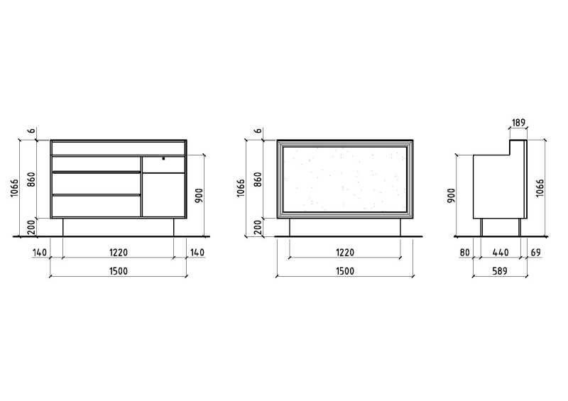 Maya Desk Structure Details