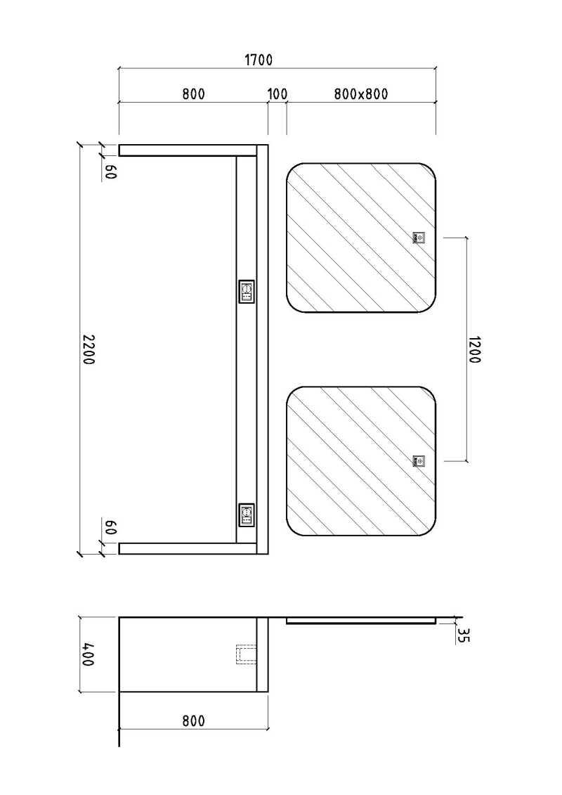 iTable Murale 2P Structure Details