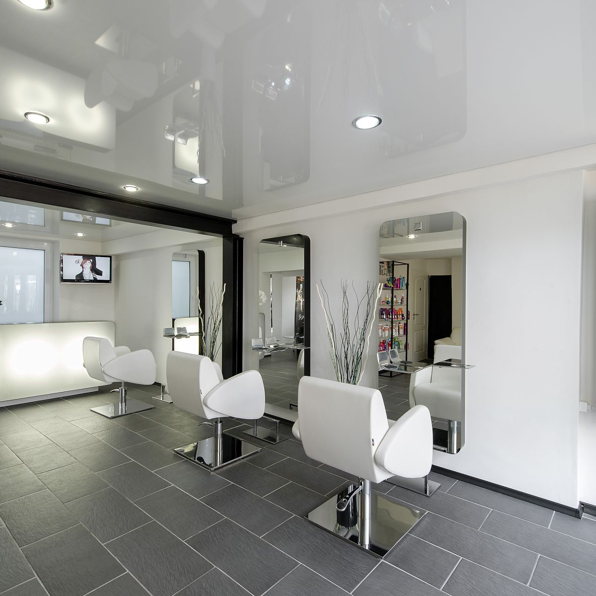 Nelson mobilier hair salon furniture made in france for Beauty salon layout