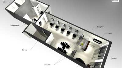 Nelson Mobilier - Hairsalon design