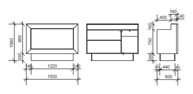 Silver Desk Structure Details