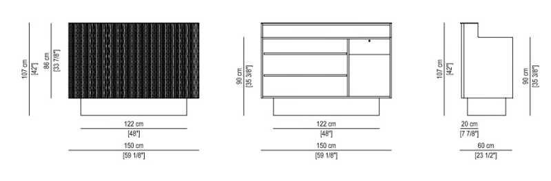 Fluctus Desk Structure Details