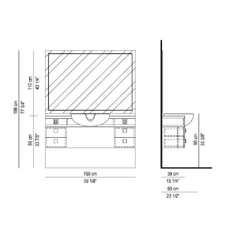 Menspace avec cuvette Structure Details