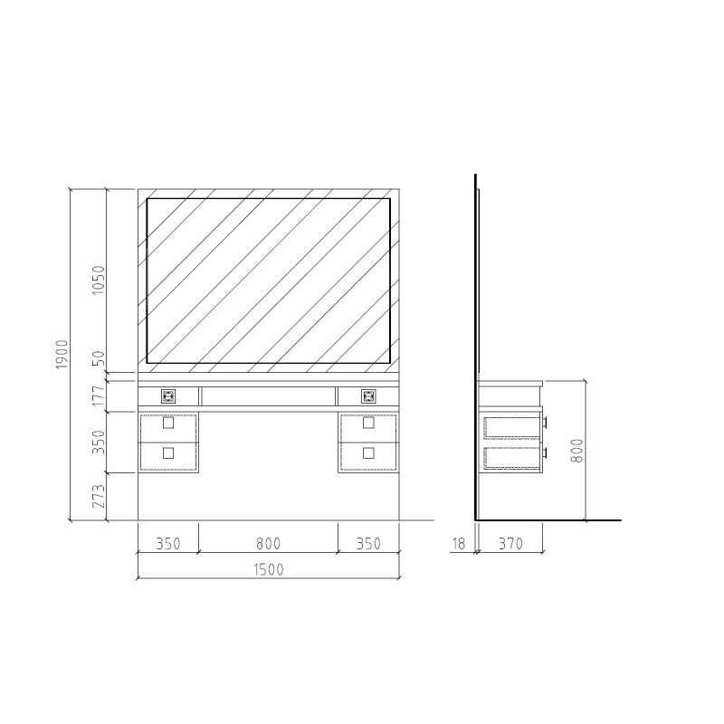Menspace sans cuvette Structure Details